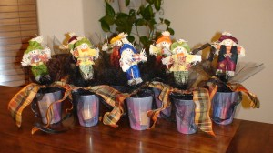 Halloween Gift Idea- Scare Crow's in Candy Cup