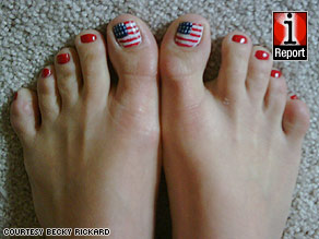 Craft Ideas Related Independence  on Get Yourself Some Patriotic Toenails