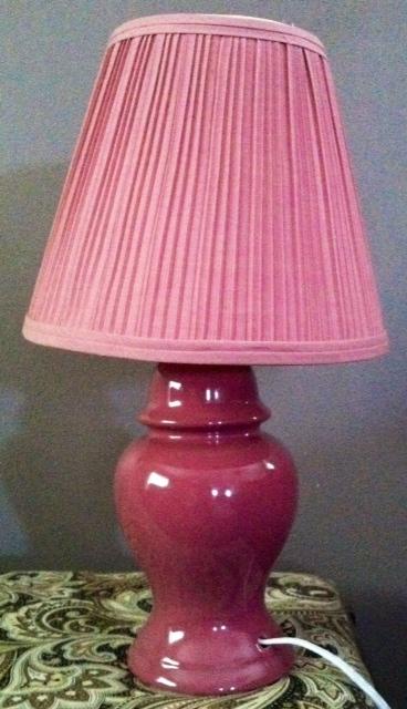 Mauve Lamp