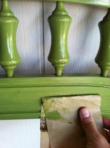 Sanding Paint for Worn Look