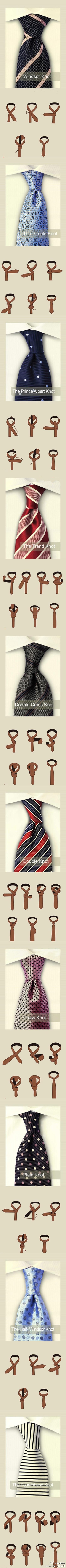 Different Ways To Tie A Tie Pinterest Marwer  9waystofoldapocketsquareinfographic The Drape Knot: How