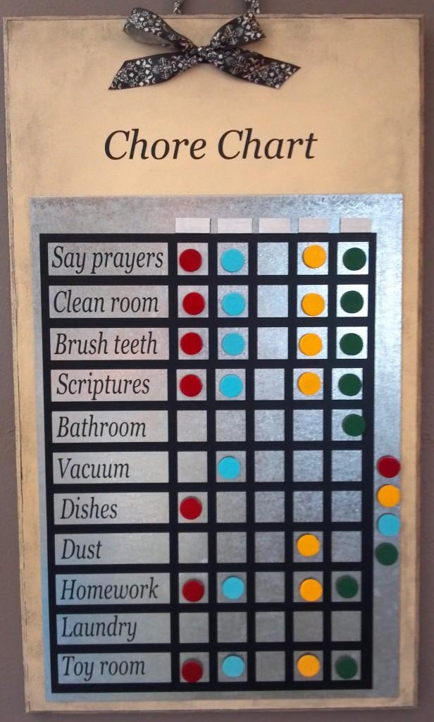 Cream Chore Chart