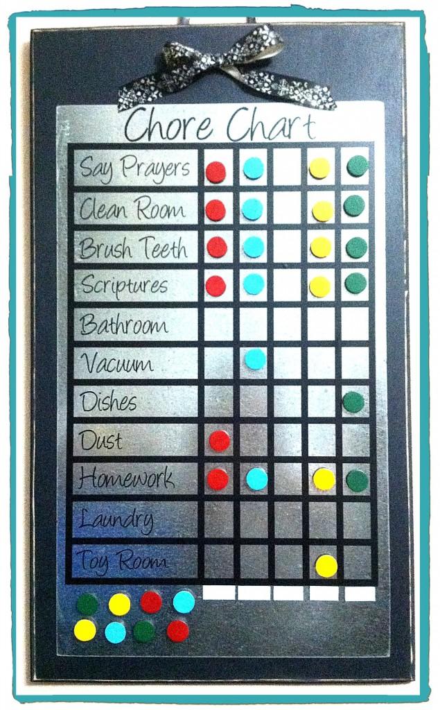 Black Chore Chart