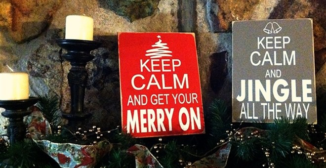 Keep Calm Christmas Signs