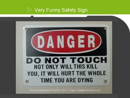 funny do not touch sign