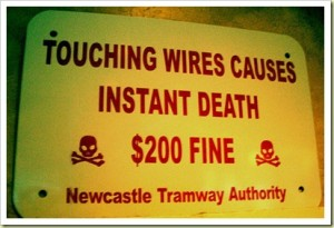 Touching wires causes instant death. Fine