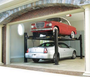 Residential garage car lift
