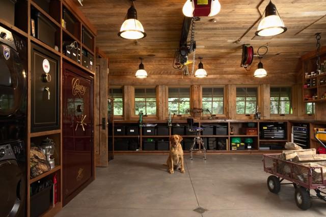 Wood Decked Garage