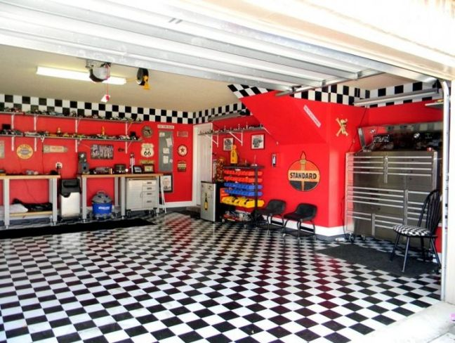 10 sweet garage ideas to transform your garage for Cool car garage ideas