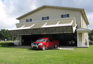 Wrap Around Porch Garage Door