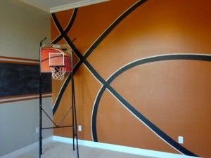 Trigg's Basketball wall