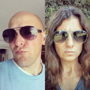 Amy vs Dave Aviator Sun Glasses