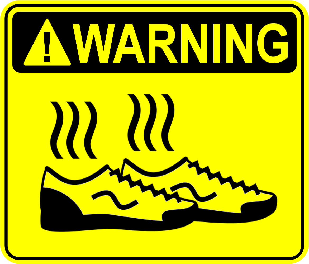 Stinky shoes sign