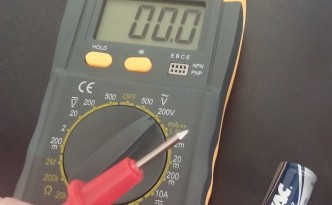 multimeter for testing batteries