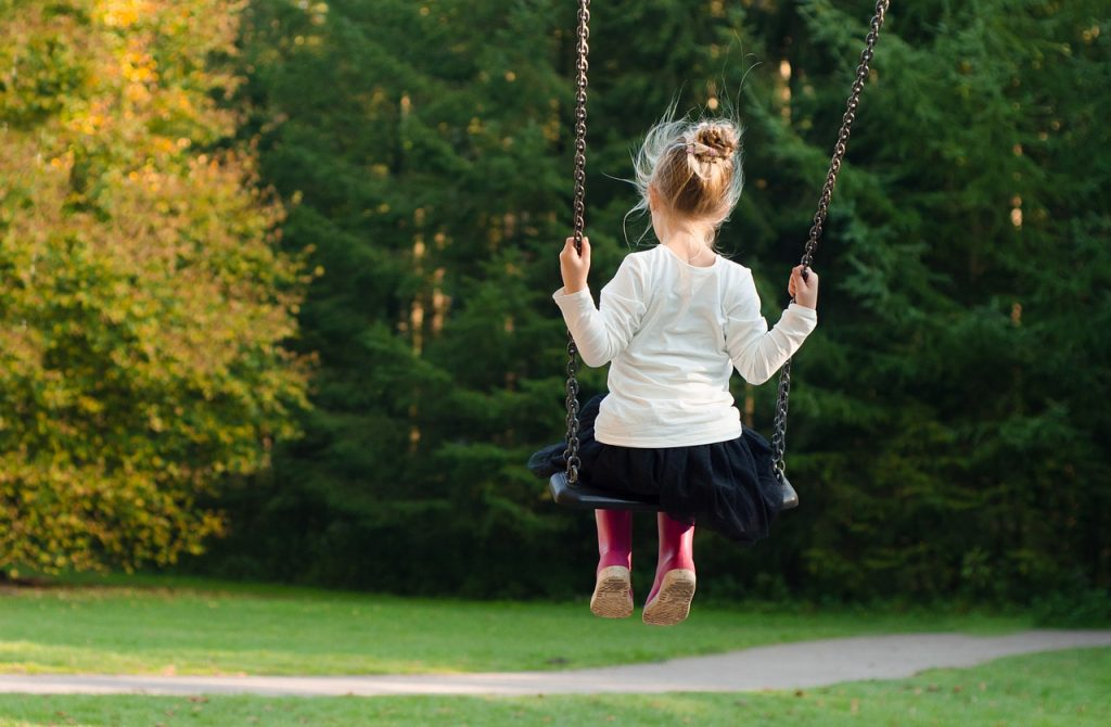 girl outdoor play