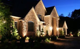 outdoor lighting on home